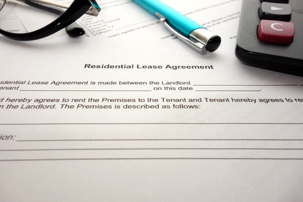 Image of a lease agreement