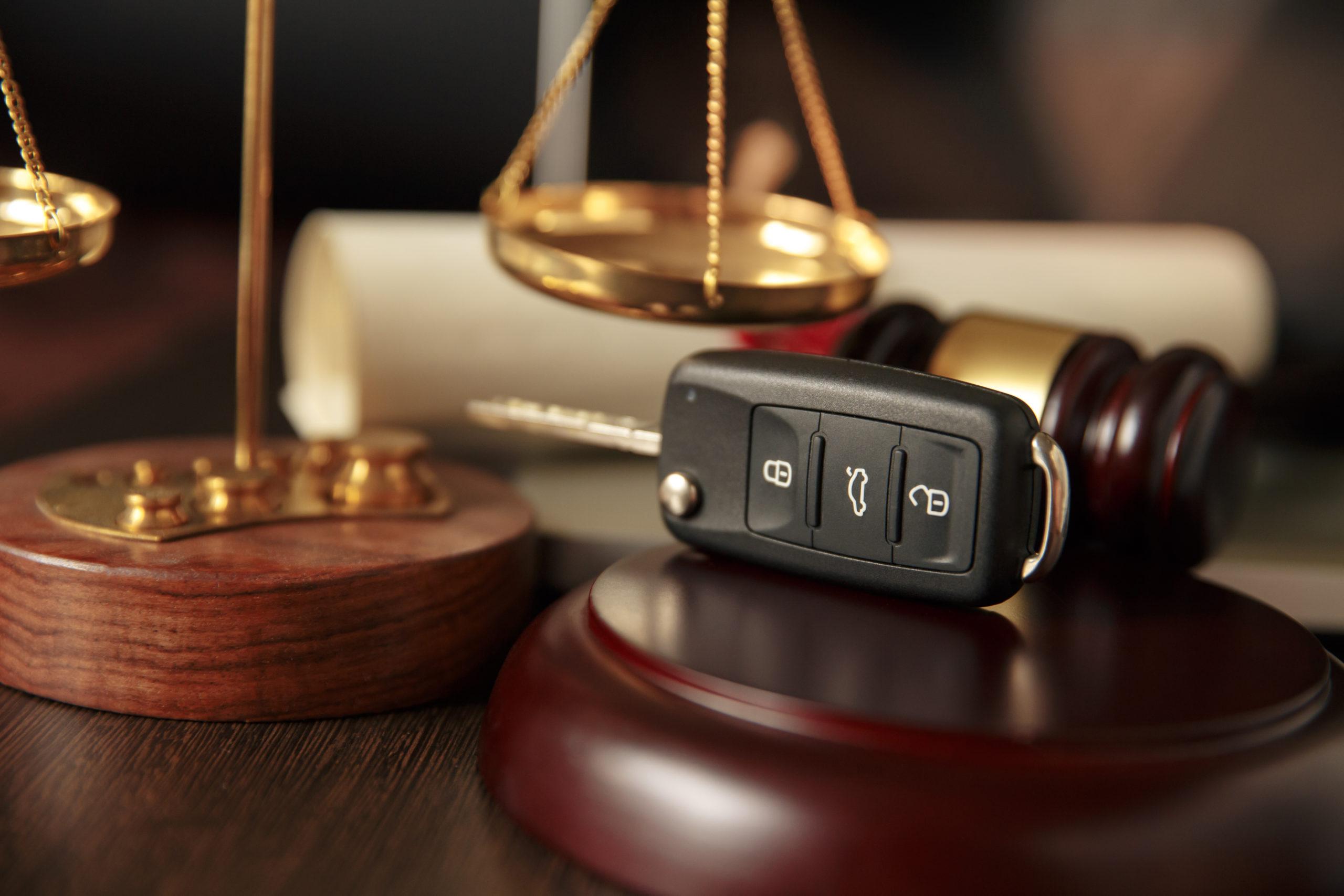 Judicial scales and keys